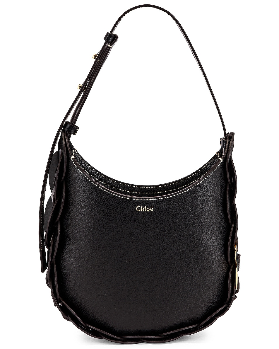 Image 1 of Chloe Small Darryl Leather Bag in Black