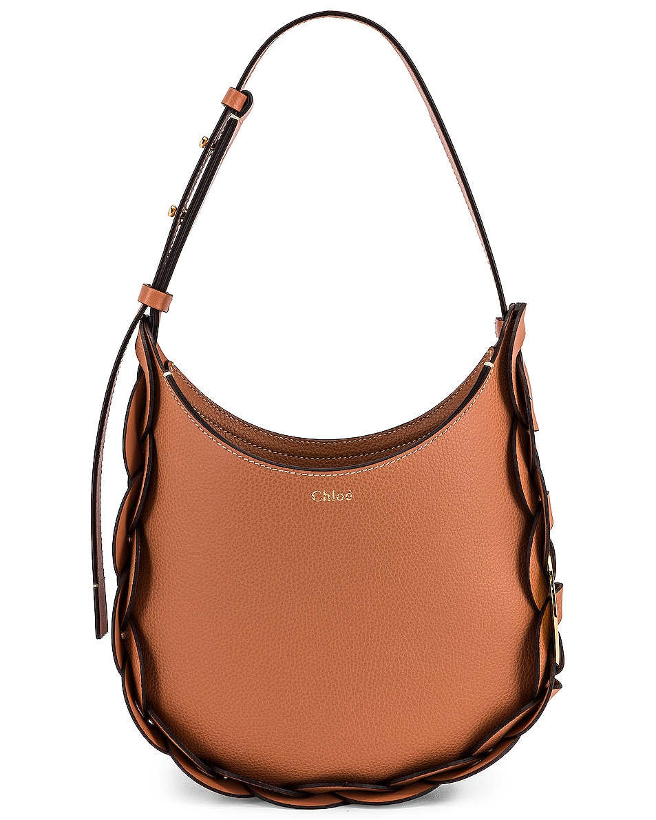 Image 1 of Chloe Small Darryl Leather Bag in Muted Brown