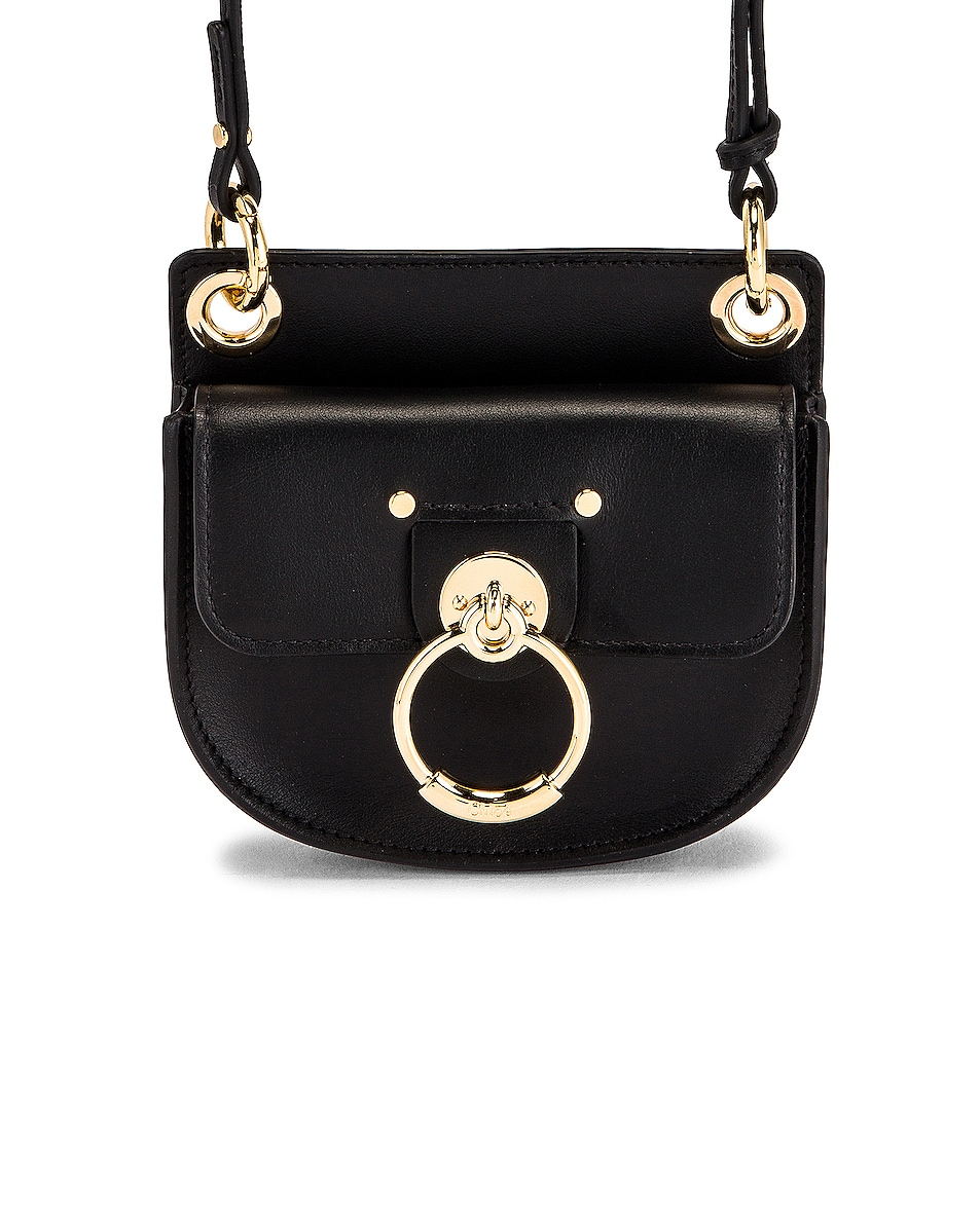 Image 1 of Chloe Mini Tess Leather Bag in Black