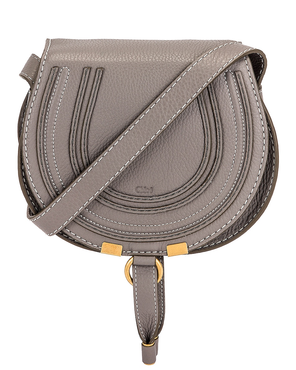 Image 1 of Chloe Small Marcie Crossbody Bag in Cashmere Grey