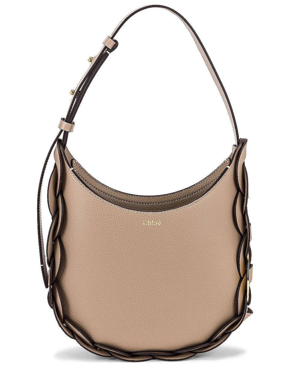 Image 1 of Chloe Small Darryl Hobo Shoulder Bag in Motty Grey
