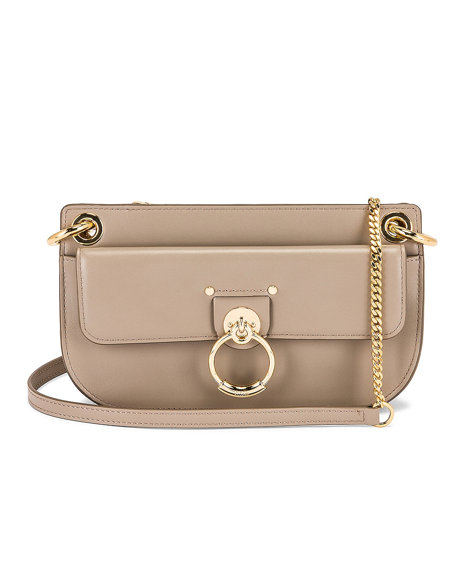 Image 1 of Chloe Mini Tess Crossbody Bag in Motty Grey
