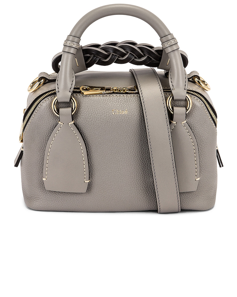 Image 1 of Chloe Small Daria Leather Day Bag in Stormy Grey