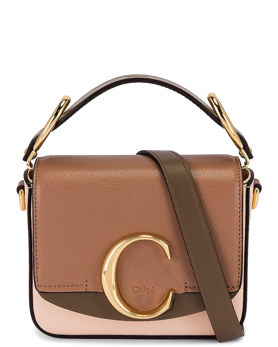 Image 1 of Chloe Mini C Square Bag in Pink