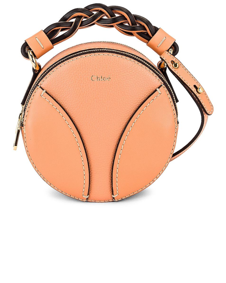 Image 1 of Chloe Mini Daria Round Bag in Peach Bloom