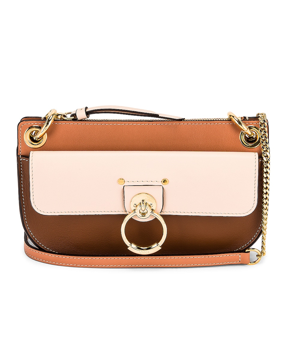 Image 1 of Chloe Small Tess Multicolor Crossbody Pouch in Softy Pink