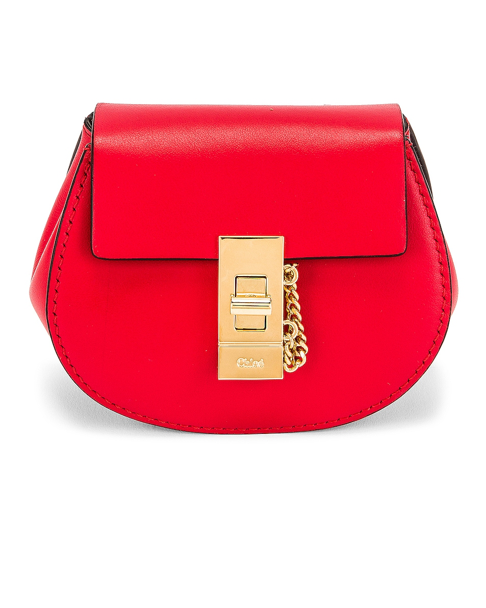 Image 1 of Chloe Mini Drew Crossbody Backpack in Juicy Red