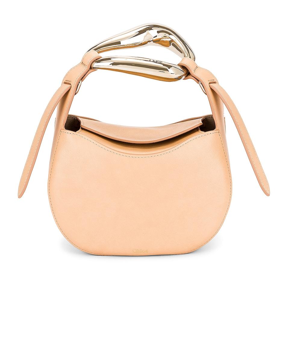 Image 1 of Chloe Small Kiss Bag in Sandy Beige