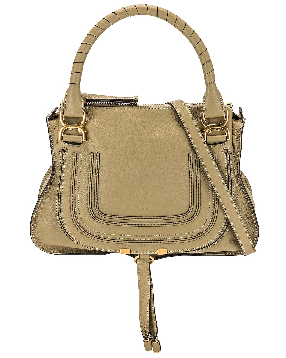 Image 1 of Chloe Medium Marcie Bag in Pottery Green