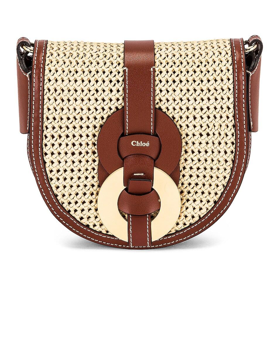 Image 1 of Chloe Darryl Saddle Crossbody Bag in Sepia Brown
