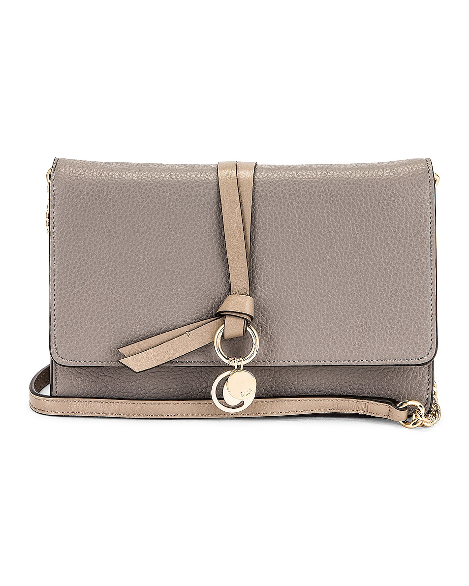Image 1 of Chloe Alphabet Wallet on Chain Bag in Cashmere Grey