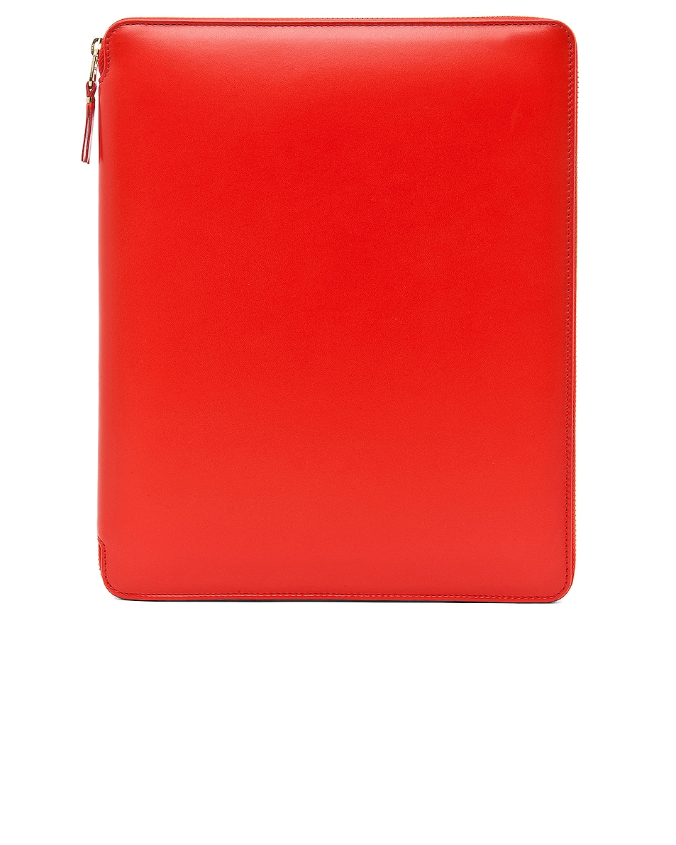 Image 1 of Comme Des Garcons Luxury Leather iPad Case in Orange