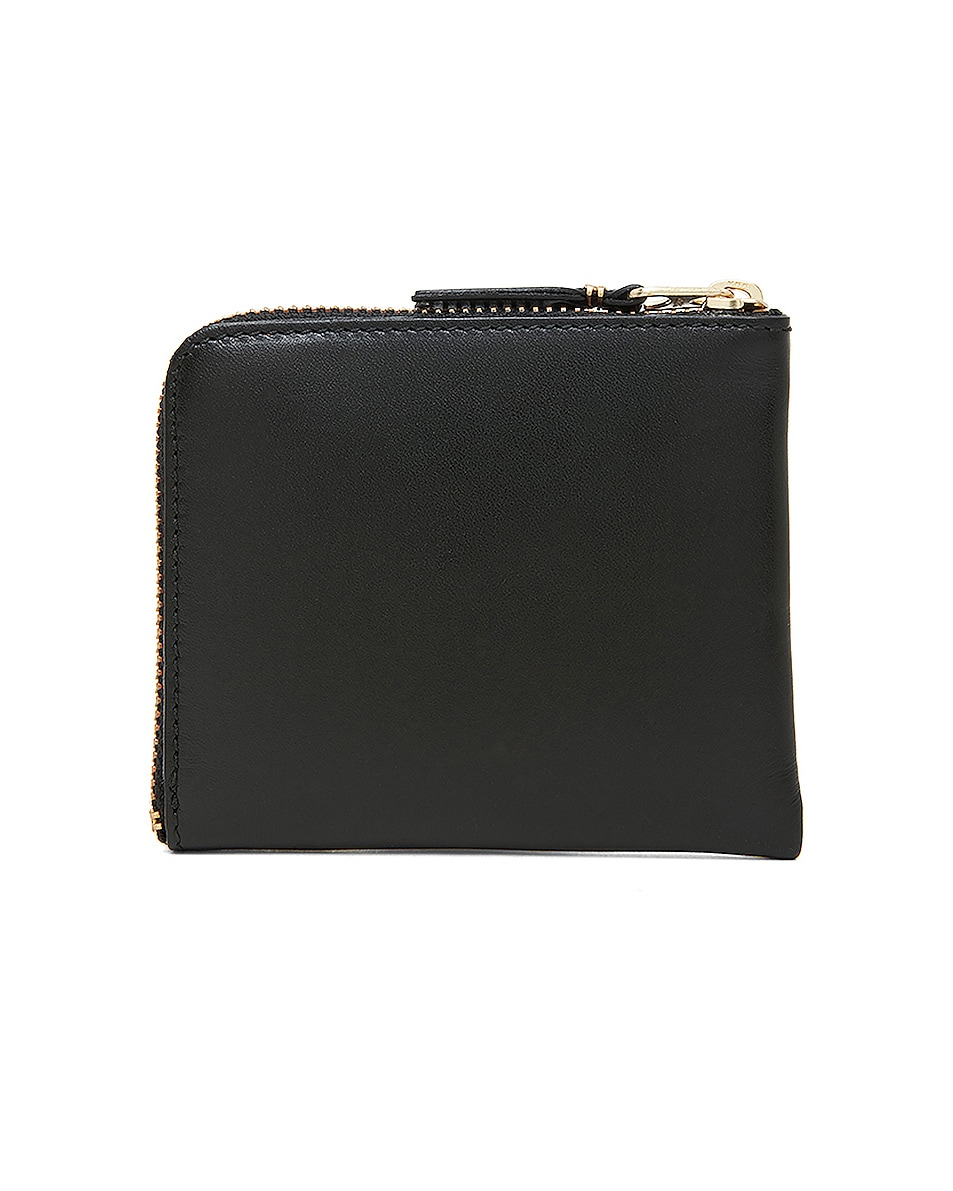Image 2 of Comme Des Garcons Small Zip Wallet in Black