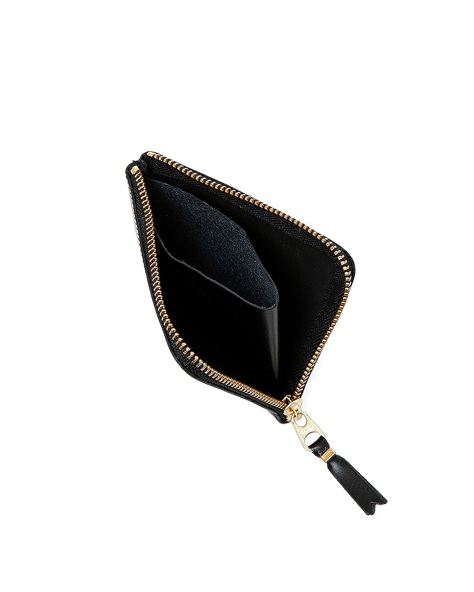 Image 3 of Comme Des Garcons Small Zip Wallet in Black