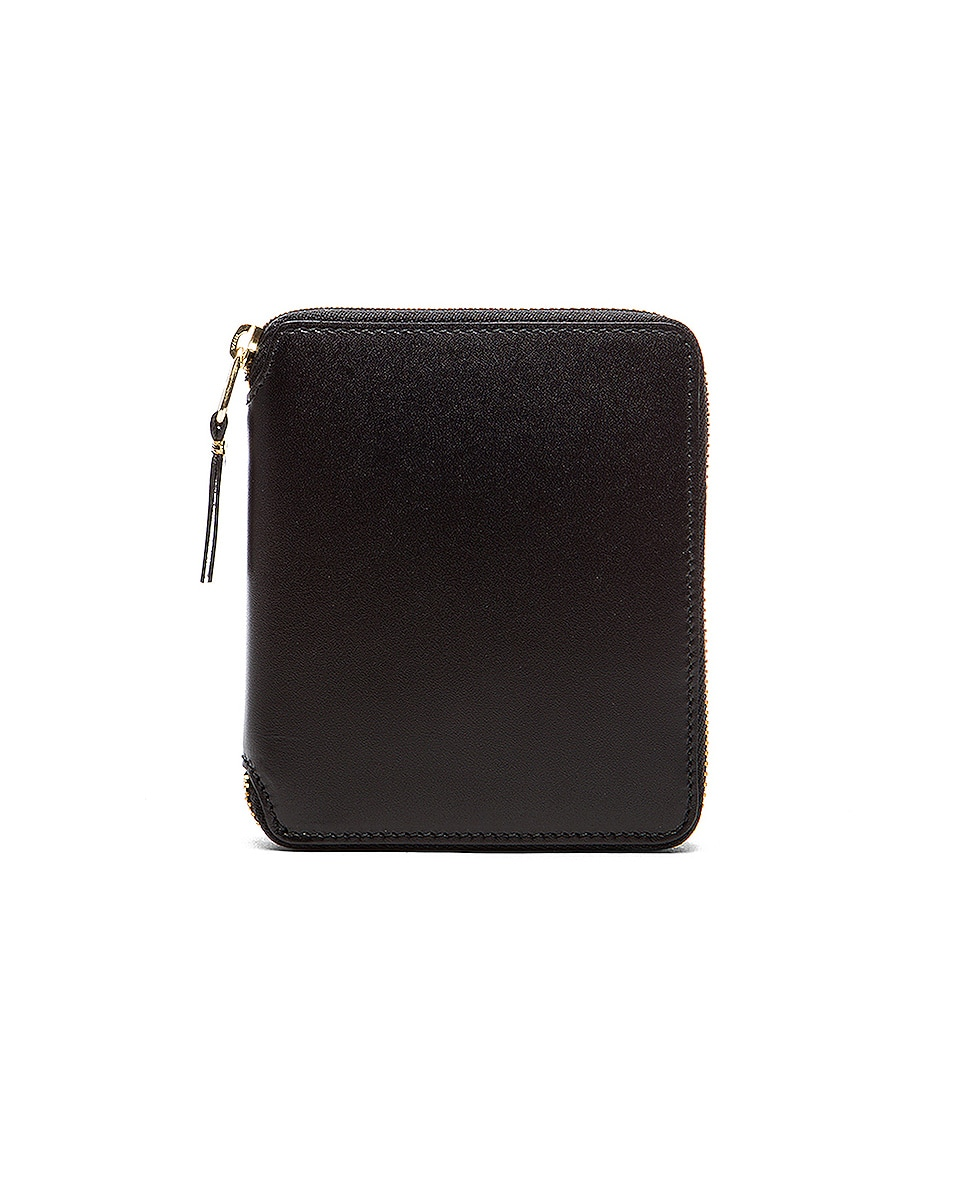 Image 1 of Comme Des Garcons Zip Fold Wallet in Black