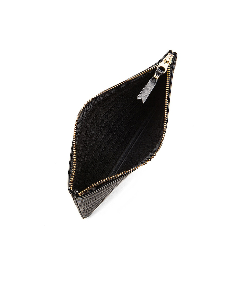 Image 4 of Comme Des Garcons Embossed Stitch Pouch in Black