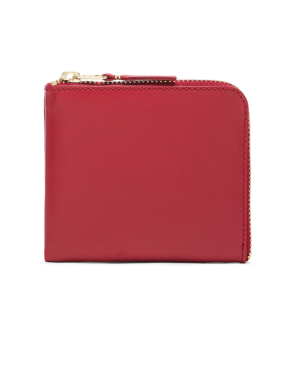 Image 1 of Comme Des Garcons Classic Small Zip Wallet in Red