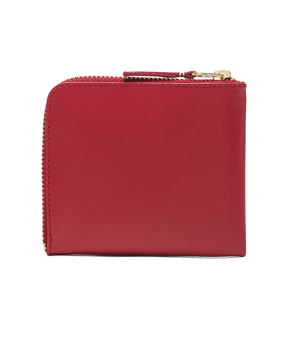 Image 2 of Comme Des Garcons Classic Small Zip Wallet in Red