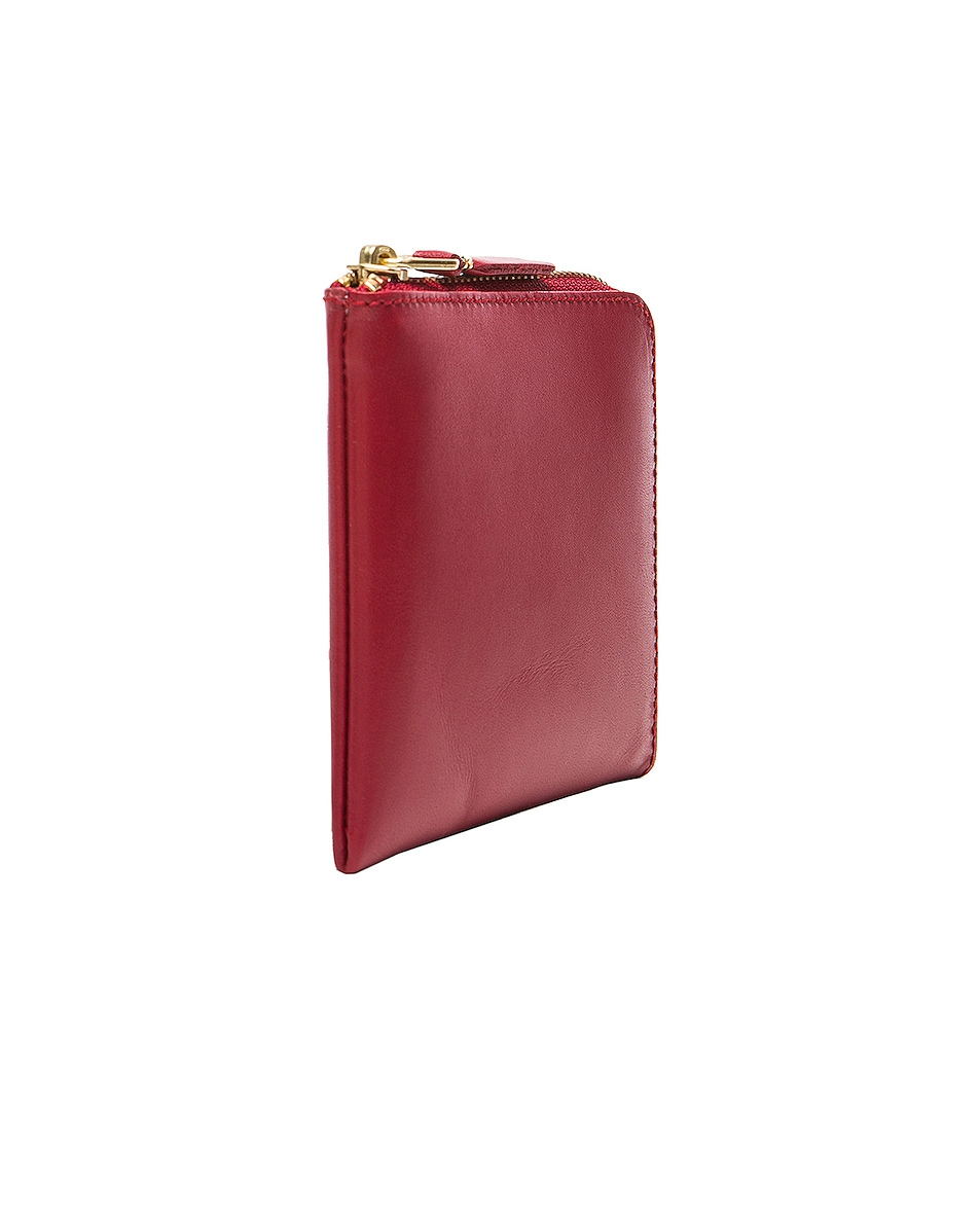 Image 3 of Comme Des Garcons Classic Small Zip Wallet in Red