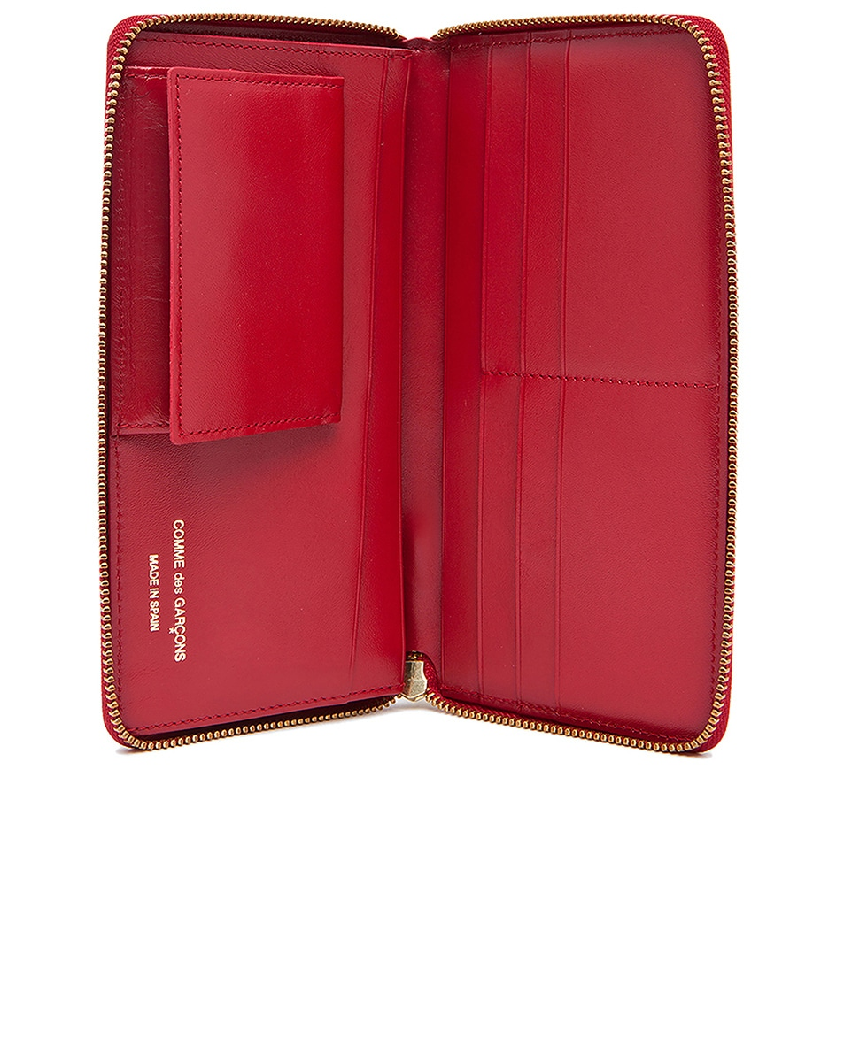 Image 4 of Comme Des Garcons Star Embossed Long Wallet in Red