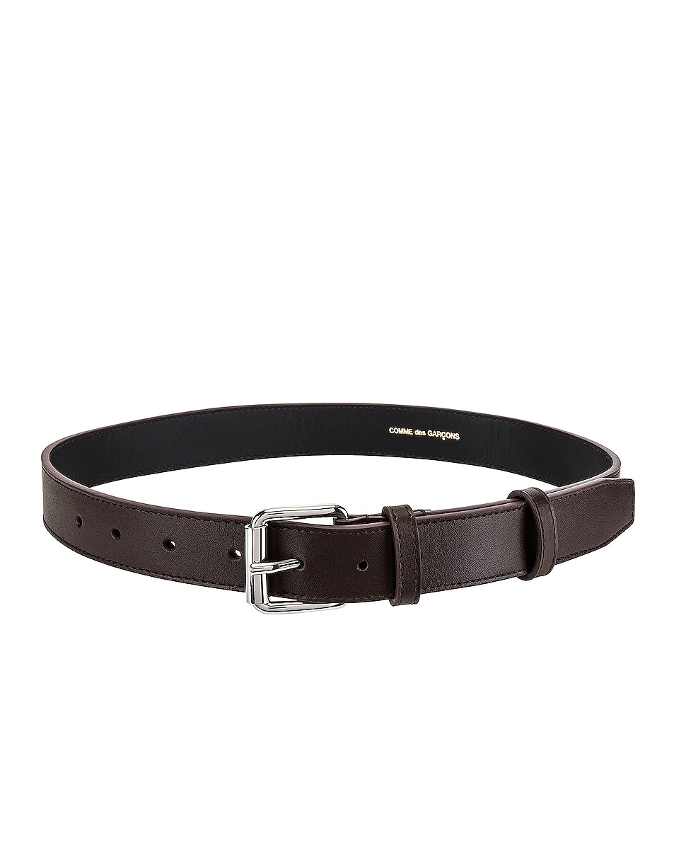 Image 1 of Comme Des Garcons Classic Leather Line B Belt in Brown