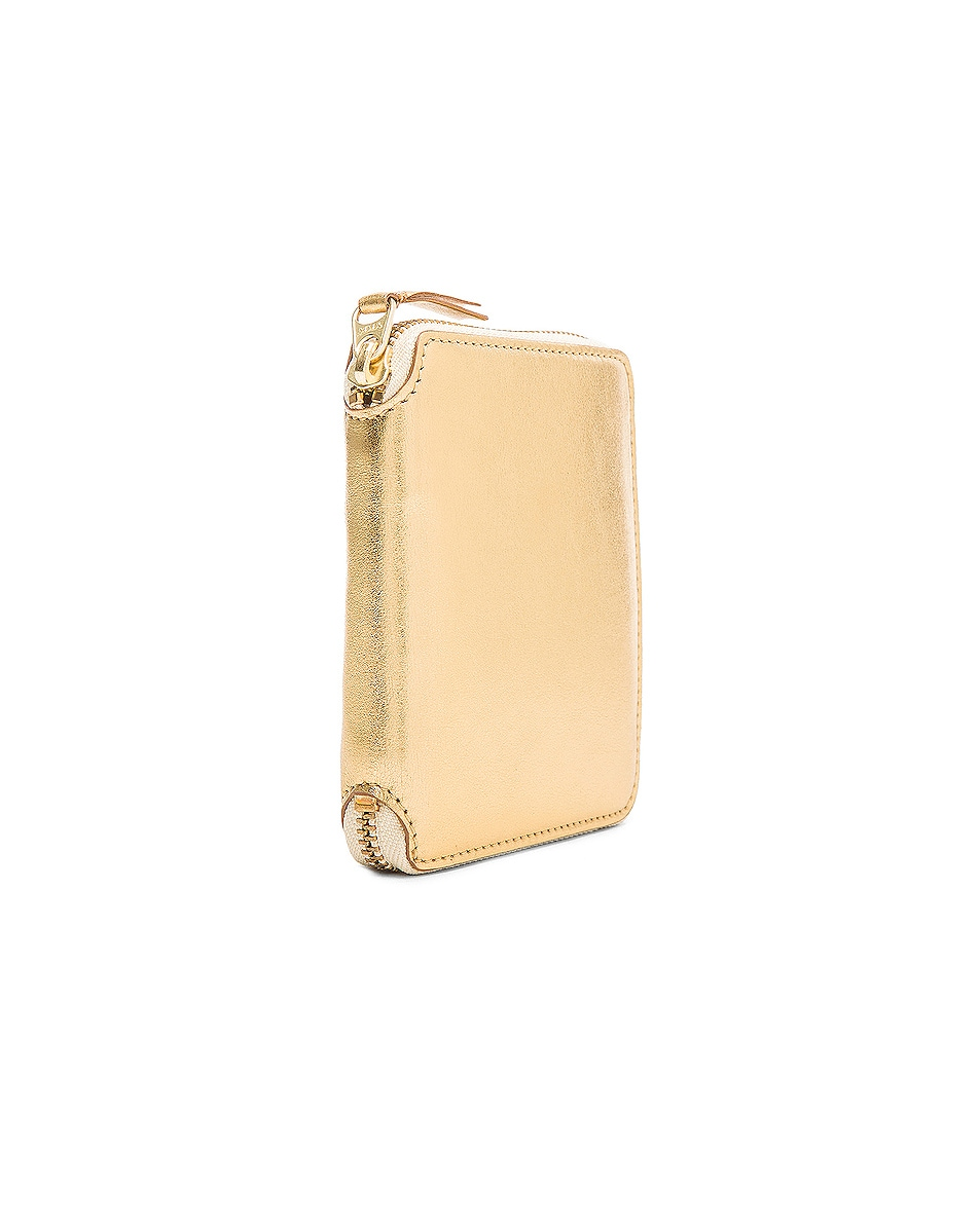 Image 3 of Comme Des Garcons Gold Line Zip Wallet in Gold