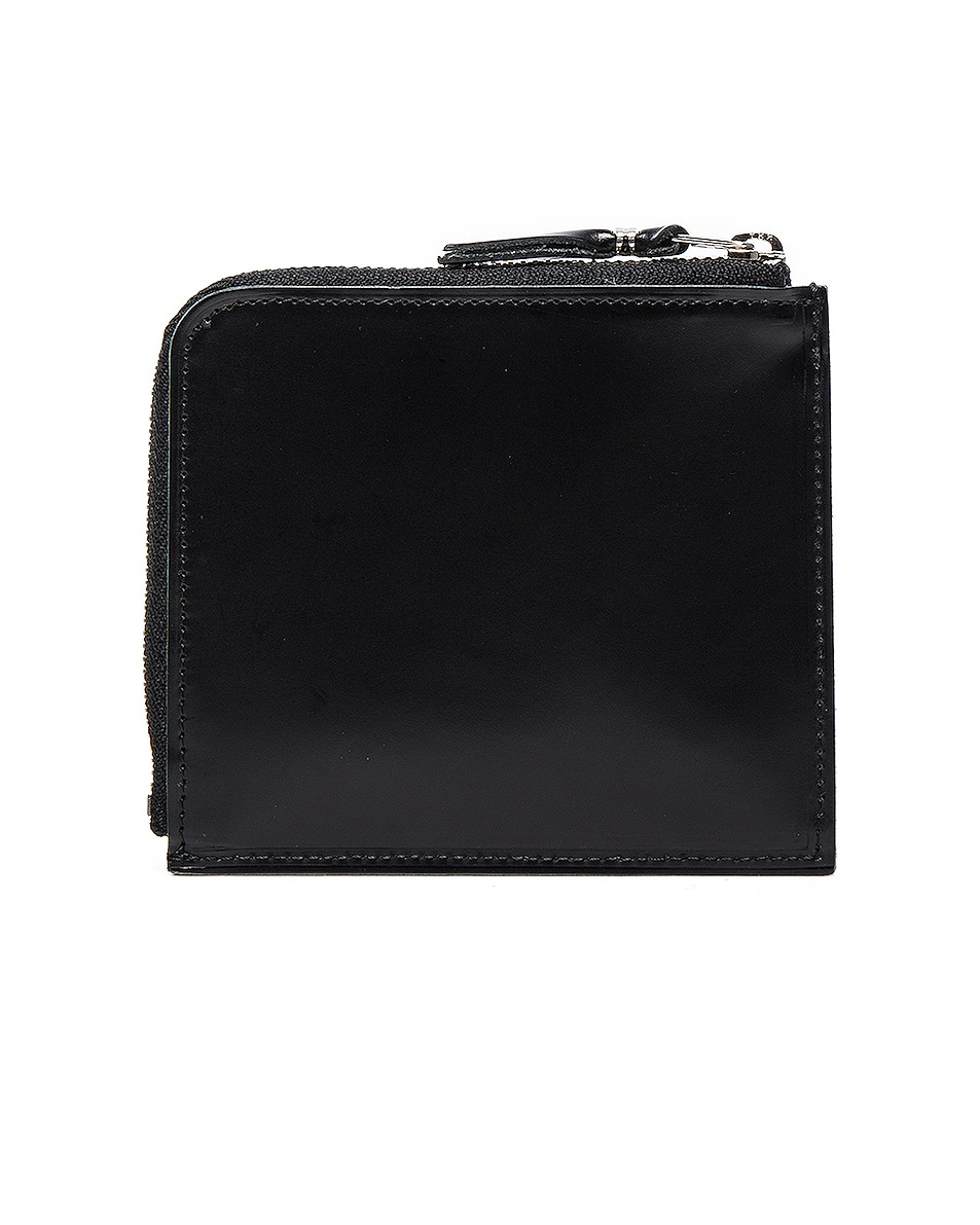 Image 2 of Comme Des Garcons Studded Leather Zip Wallet in Black