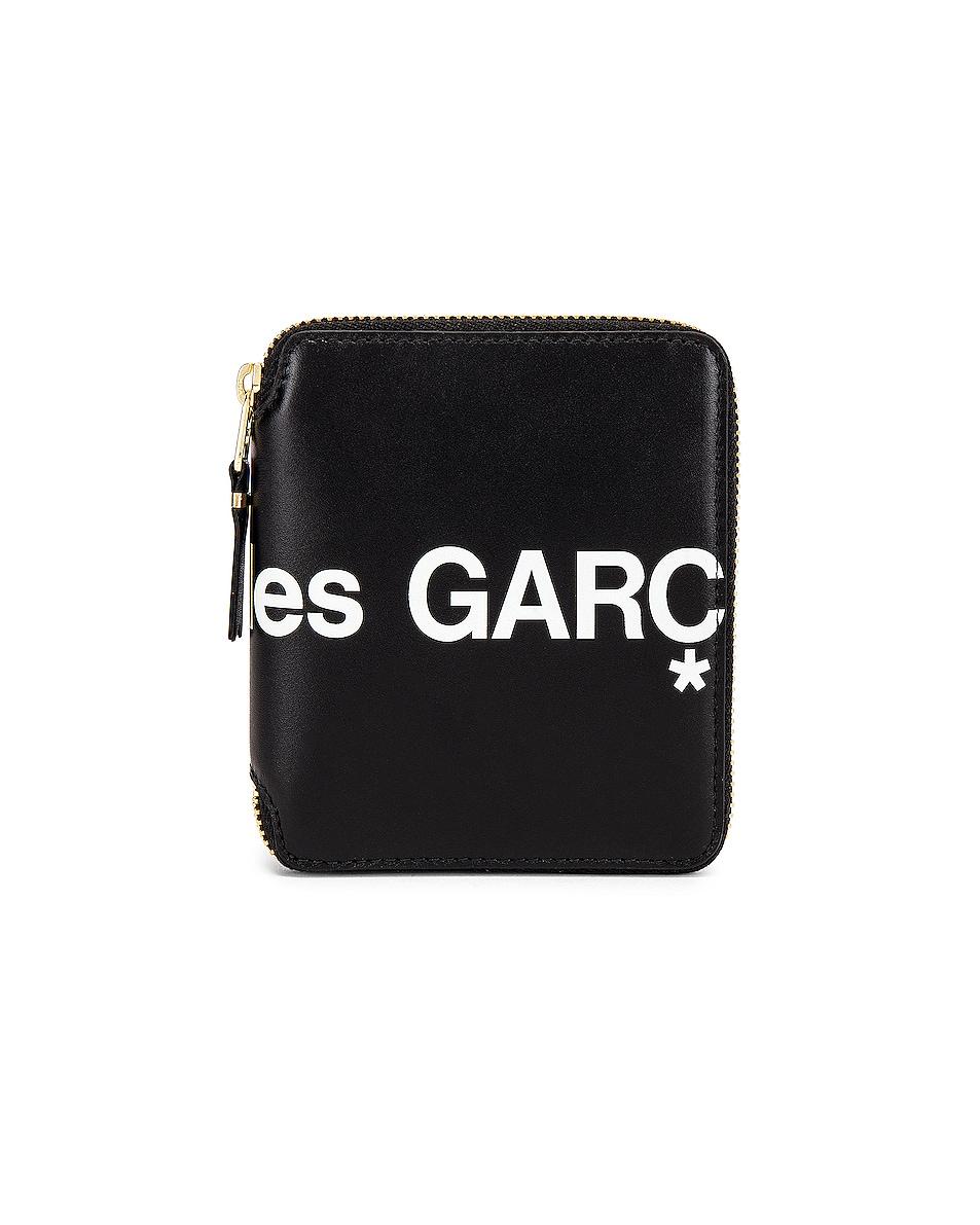 Image 1 of Comme Des Garcons Huge Logo Wallet in Black
