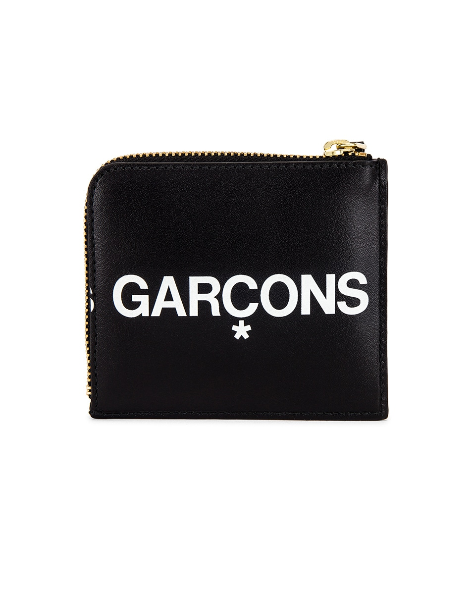 Image 1 of Comme Des Garcons Huge Logo Wallet in Black