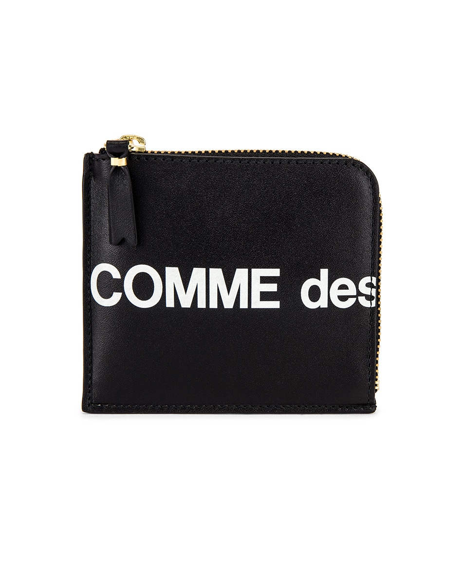 Image 2 of Comme Des Garcons Huge Logo Wallet in Black