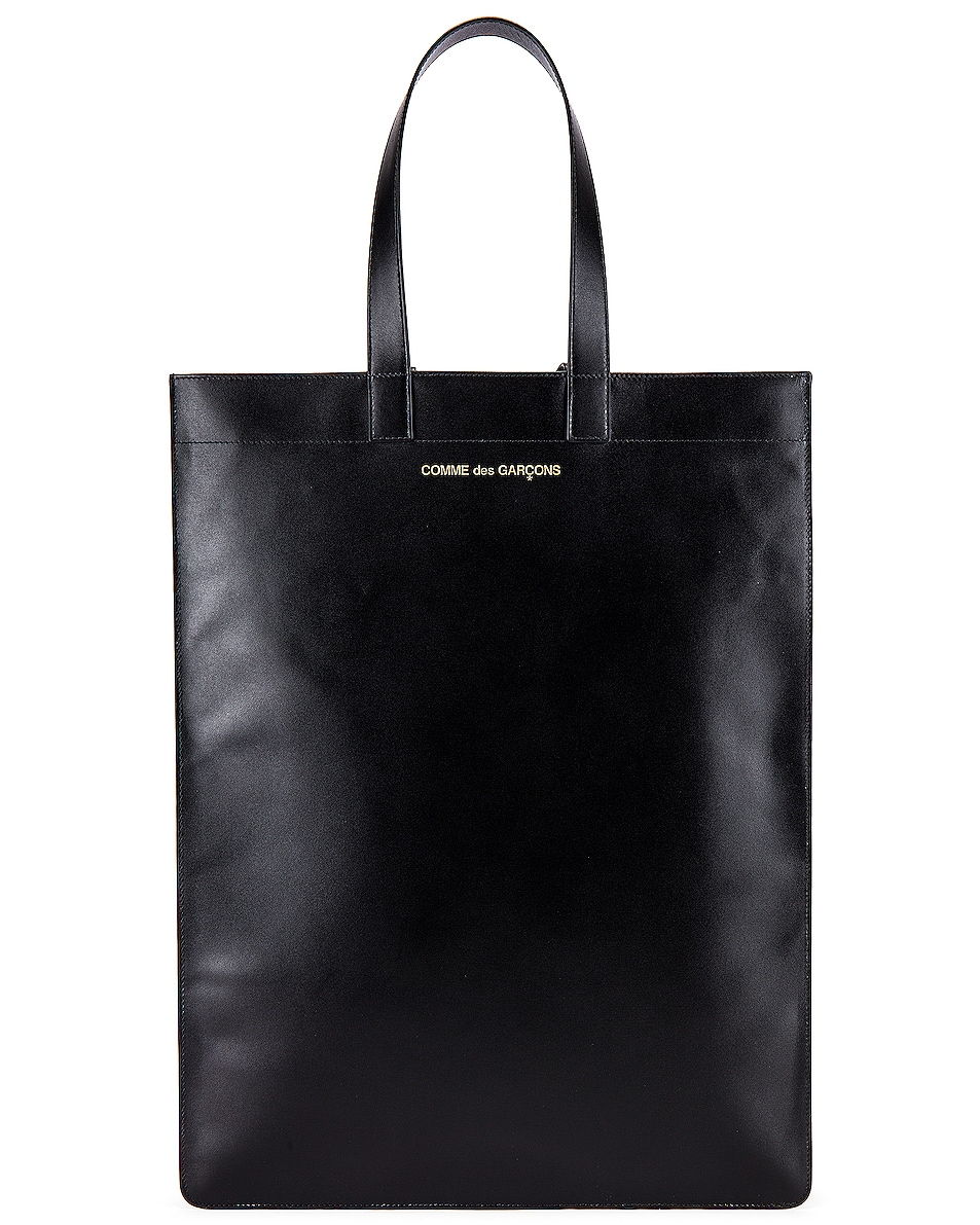 Image 1 of Comme Des Garcons Classic Leather Line B Tote Bag in Black