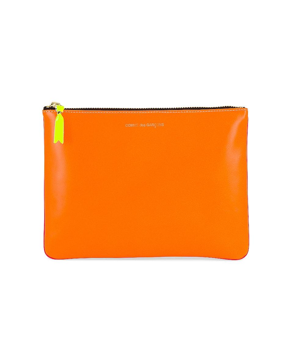 Image 1 of Comme Des Garcons Super Fluo Leather Line in Orange & Pink