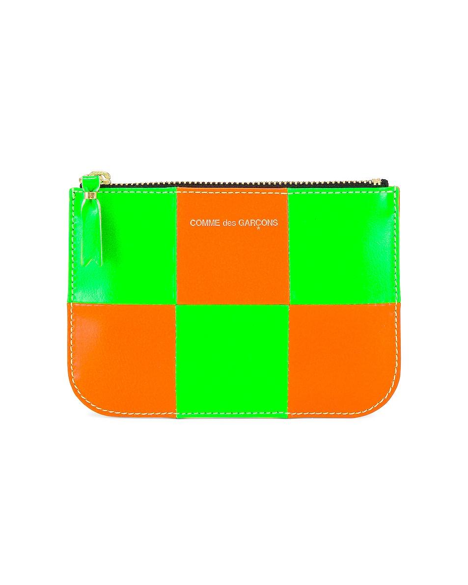 Image 1 of Comme Des Garcons Fluo Squares in Green & Orange