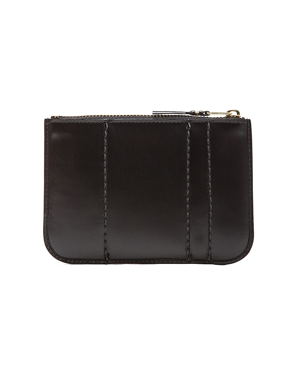 Image 2 of Comme Des Garcons Raised Spike Small Pouch in Black