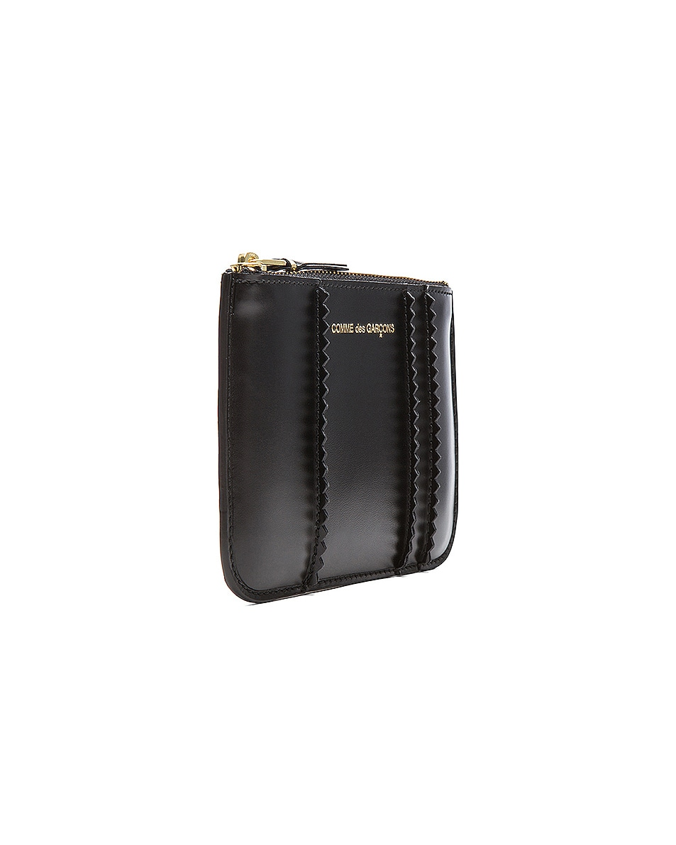 Image 3 of Comme Des Garcons Raised Spike Small Pouch in Black