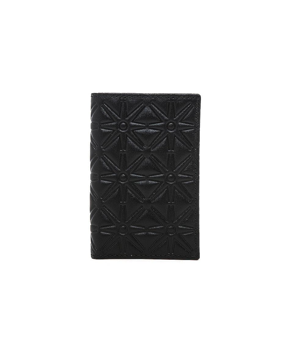 Image 1 of Comme Des Garcons Star Embossed Bill Fold in Black