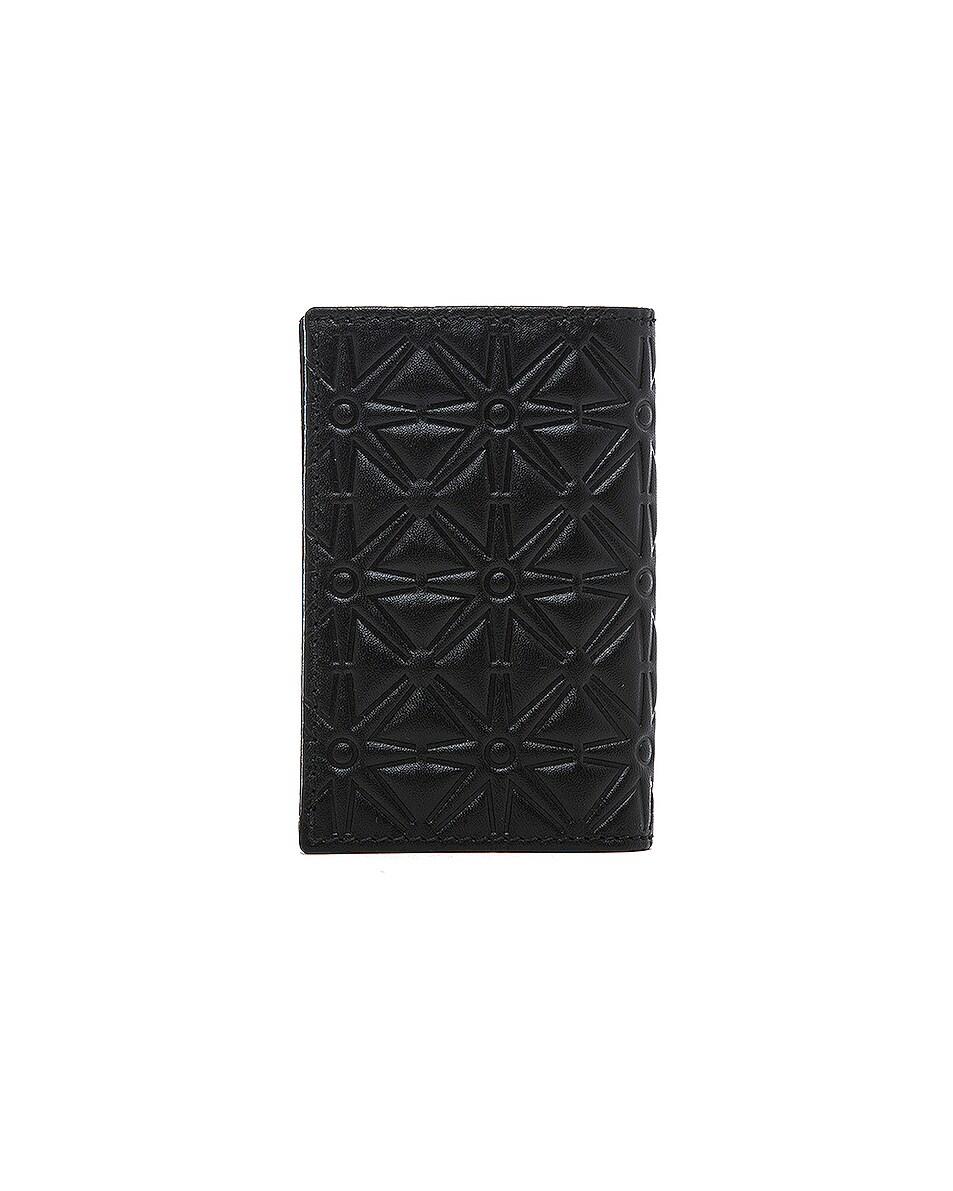 Image 2 of Comme Des Garcons Star Embossed Bill Fold in Black