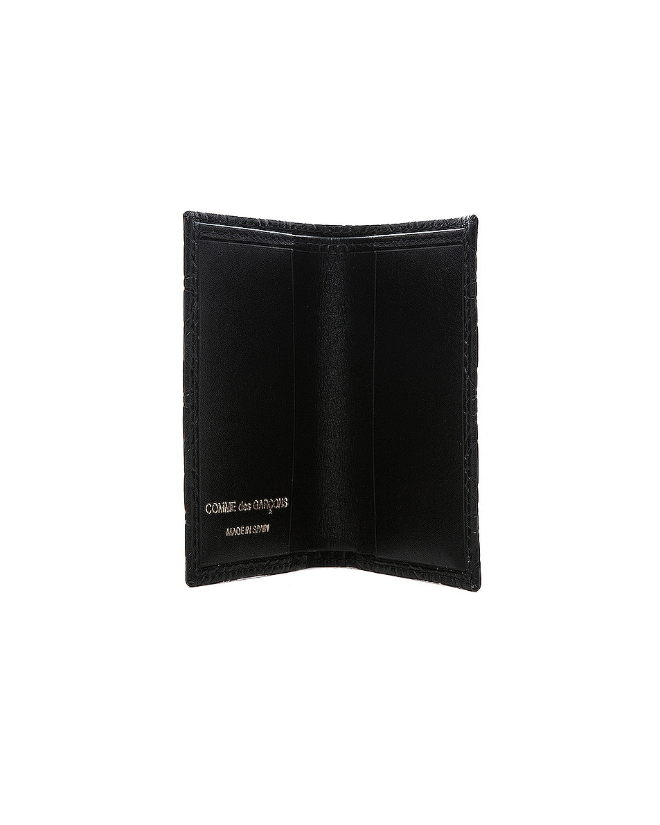 Image 3 of Comme Des Garcons Star Embossed Bill Fold in Black