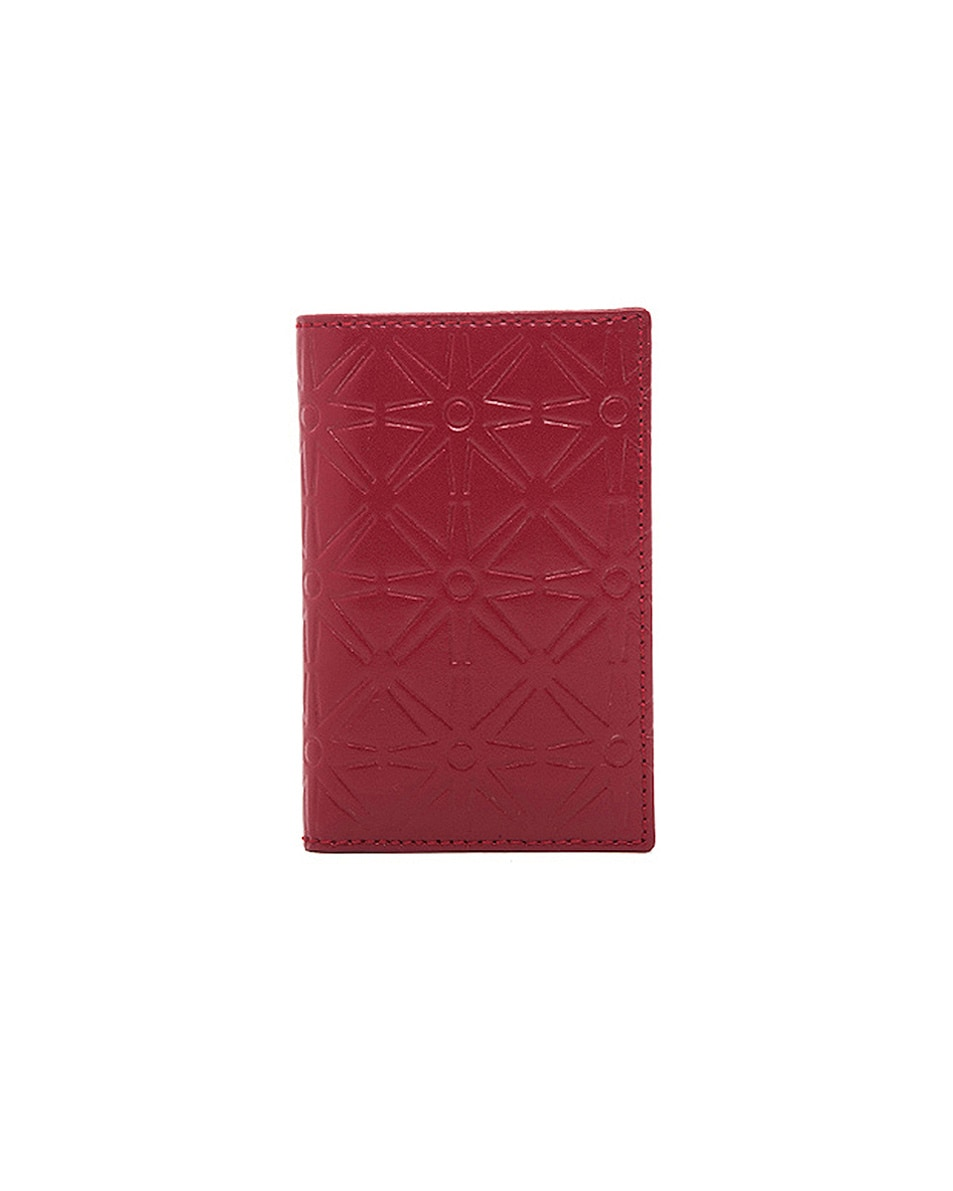 Image 1 of Comme Des Garcons Star Embossed Bill Fold in Red