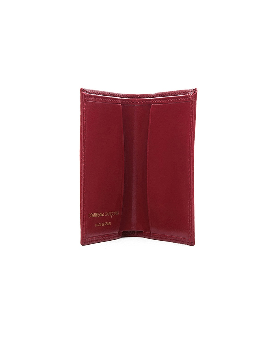 Image 3 of Comme Des Garcons Star Embossed Bill Fold in Red