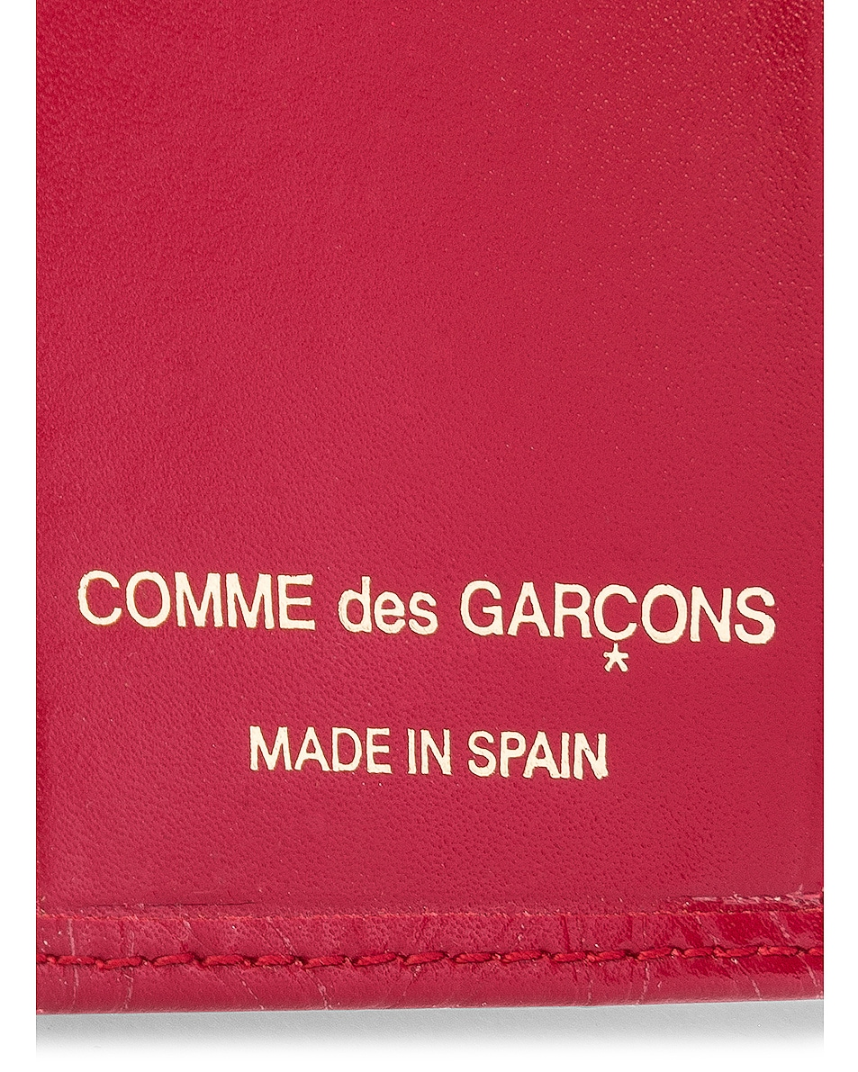 Image 4 of Comme Des Garcons Star Embossed Bill Fold in Red