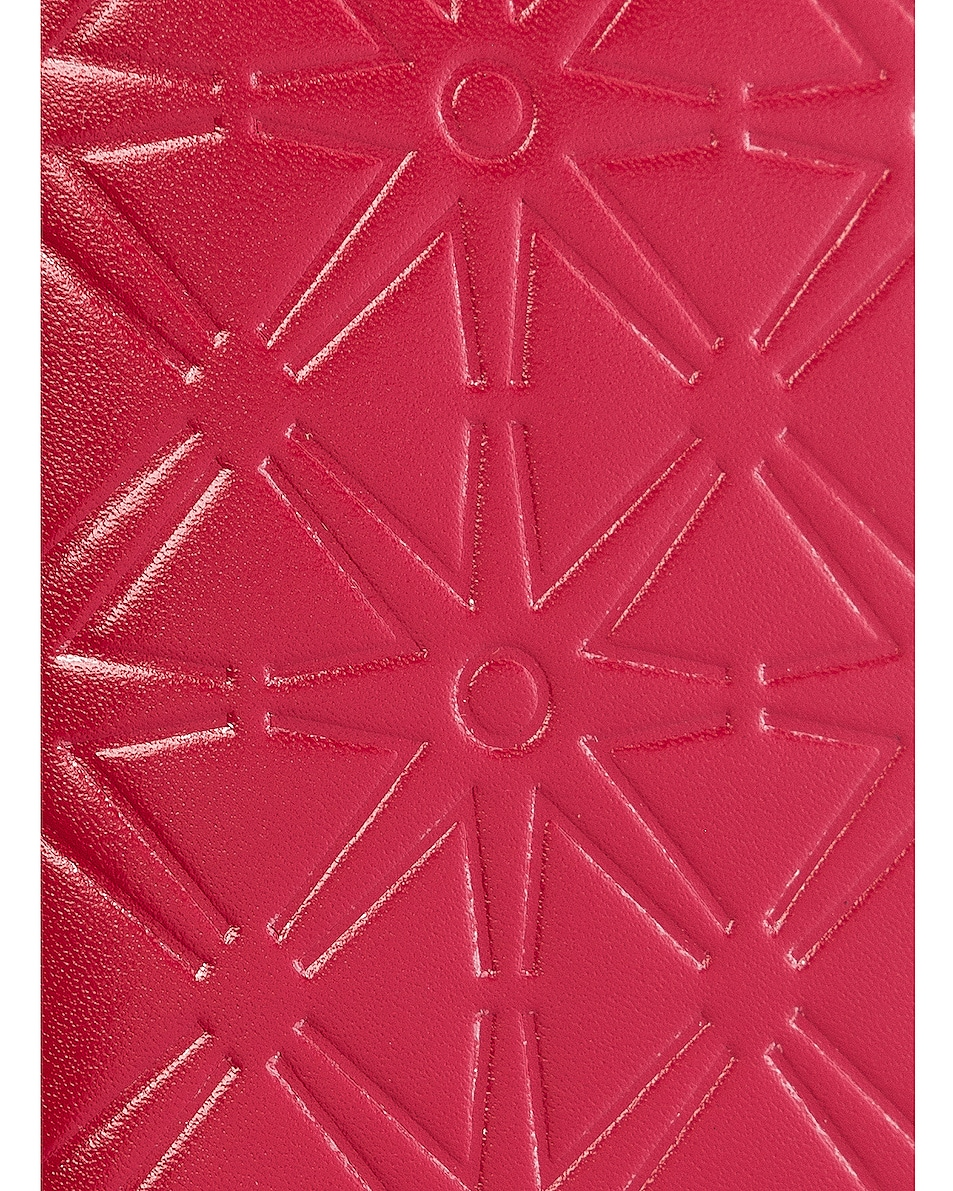 Image 5 of Comme Des Garcons Star Embossed Bill Fold in Red