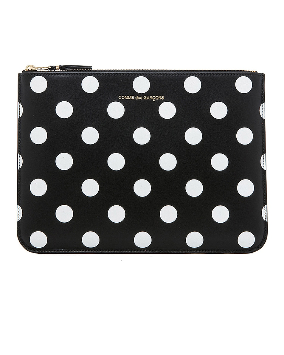 Image 1 of Comme Des Garcons Polka Dot Pouch in Black