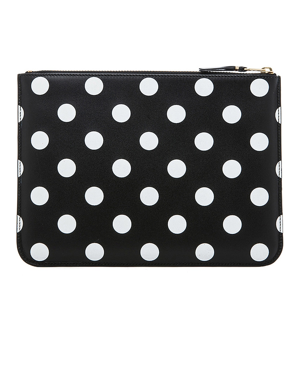 Image 2 of Comme Des Garcons Polka Dot Pouch in Black