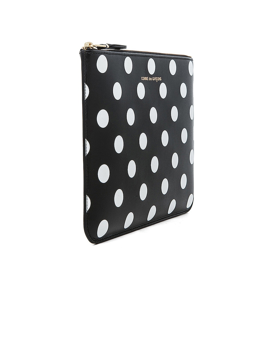 Image 3 of Comme Des Garcons Polka Dot Pouch in Black