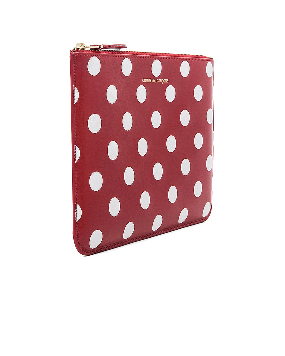 Image 3 of Comme Des Garcons Polka Dot Pouch in Red