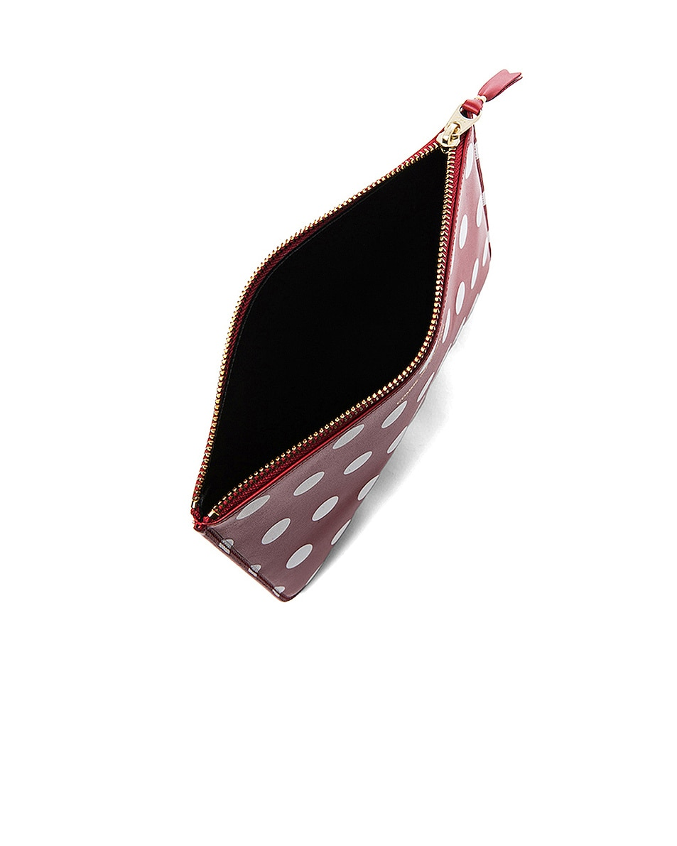 Image 4 of Comme Des Garcons Polka Dot Pouch in Red