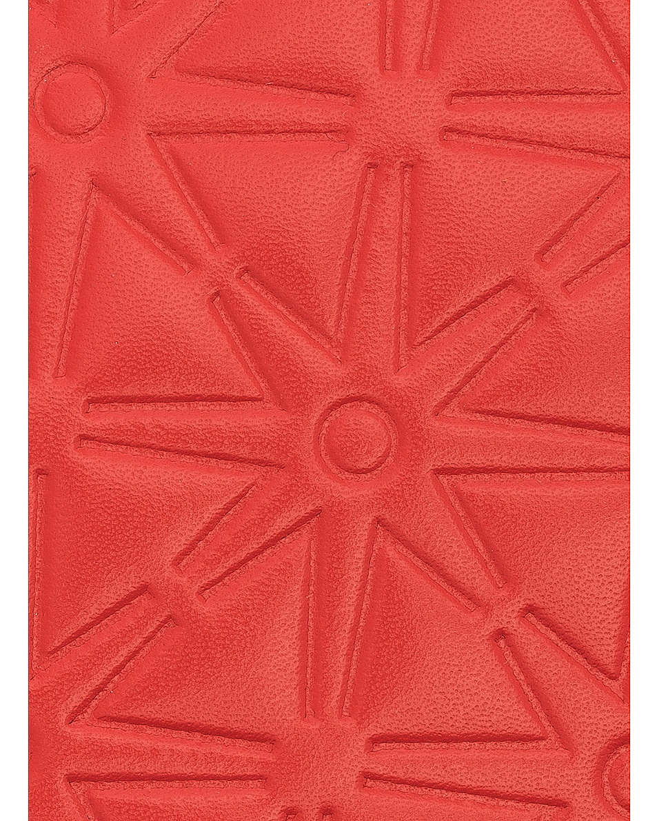 Image 6 of Comme Des Garcons Star Embossed Zip Fold Wallet in Orange