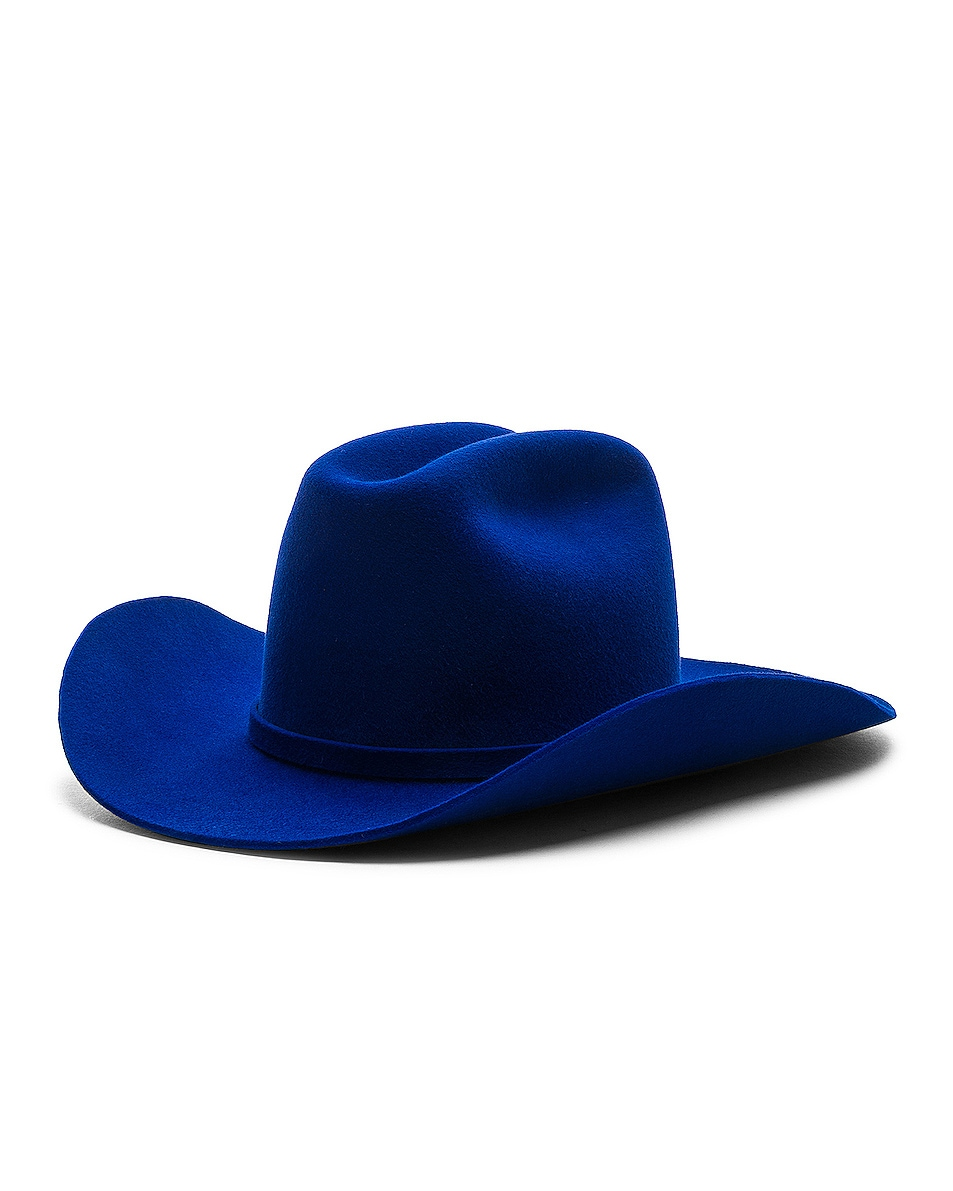 Image 2 of CALVIN KLEIN 205W39NYC Cowboy Hat in Electric Blue