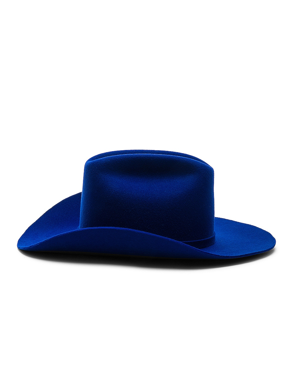 Image 3 of CALVIN KLEIN 205W39NYC Cowboy Hat in Electric Blue